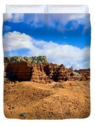 Goblin Valley Pano 3 Duvet Cover by Tomasz Dziubinski