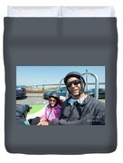 Gocar Tour By Bay Bridge In San Francisco, California Duvet Cover