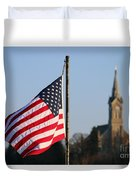 God And Country 2 Duvet Cover