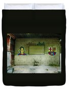 God And Futbol Duvet Cover
