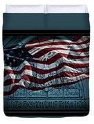 God Country Notre Dame American Flag Duvet Cover