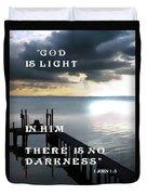 God Is Light Duvet Cover