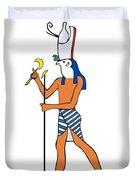 God Of Ancient Egypt - Horus Duvet Cover by Michal Boubin