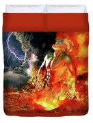 God Of Fire Duvet Cover
