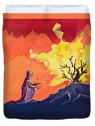 God Speaks To Moses From The Burning Bush Duvet Cover