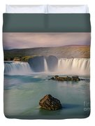 Godafoss In Iceland Duvet Cover