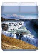Godafoss Waterfall Duvet Cover