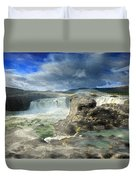 Godafoss Waterfall Iceland Duvet Cover