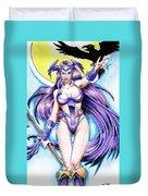 Goddess Morrigan Duvet Cover