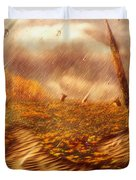 Gods Hand Painting With Life Duvet Cover