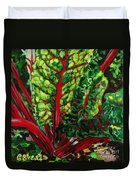 God's Kitchen Series No 7 Swiss Chard Duvet Cover