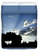 God's Rays At La Fenetre Duvet Cover