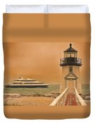 Godspeed At Brant Point Nantucket Island Duvet Cover