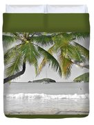 Going Green To Save Paradise Duvet Cover