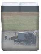 Going Out To The Barn Duvet Cover