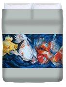 Gold And Koi Fish 1 Duvet Cover