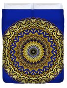 Gold And Sapphires  Duvet Cover