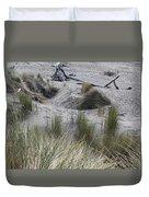 Gold Beach Oregon Beach Grass 15 Duvet Cover