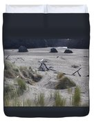 Gold Beach Oregon Beach Grass 18 Duvet Cover