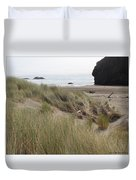 Gold Beach Oregon Beach Grass 24 Duvet Cover