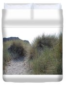 Gold Beach Oregon Beach Grass 5 Duvet Cover