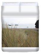 Gold Beach Oregon Beach Grass 7 Duvet Cover