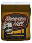 Gold Brewers Hill Duvet Cover
