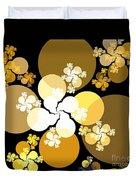 Gold Brown Spheres Duvet Cover