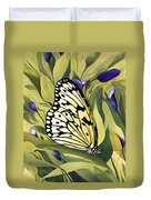 Gold Butterfly In Branson Duvet Cover
