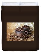 Gold Coffee Duvet Cover by Tracy Hall