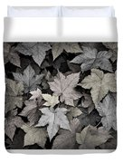 Gold Copper And Silver Leaves 1 Duvet Cover by Roger Snyder