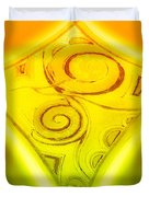 Gold Diamond Duvet Cover