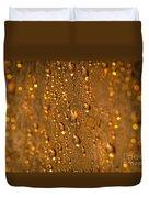 Gold Drops Duvet Cover