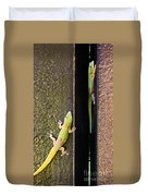Gold Dusted Day Gecko Duvet Cover
