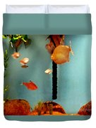 Gold Fish Life Duvet Cover