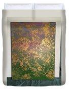 Gold Flowers Duvet Cover