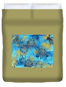 Gold In Bloom Duvet Cover