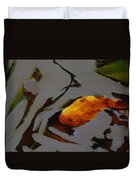 Gold In The Pond Duvet Cover