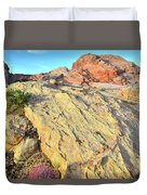 Gold Lava Flow In Valley Of Fire Duvet Cover