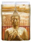 Gold Leaf Buddha Duvet Cover