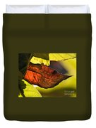 Gold Leaf In Fall Duvet Cover