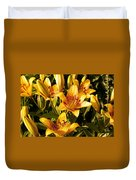 Gold Lilly Duvet Cover