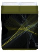 Gold Mine Computer Graphic Line Pattern Duvet Cover