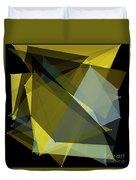 Gold Mine Polygon Pattern Duvet Cover