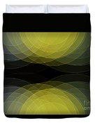 Gold Mine Semi Circle Background Horizontal Duvet Cover