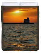 Gold On The Water Duvet Cover by Bill Pevlor