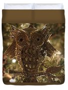 Gold Owl Duvet Cover