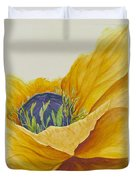 Gold Poppy Duvet Cover