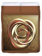 Gold Pretzel Duvet Cover