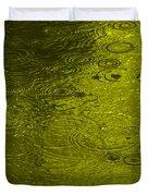 Gold Rain Droplets Duvet Cover